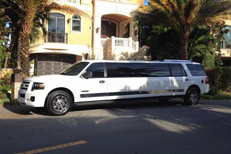 White Ford Expedition Limo