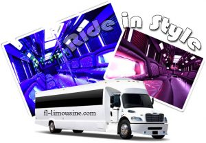 Super Bowl 2020 Miami limo party bus service